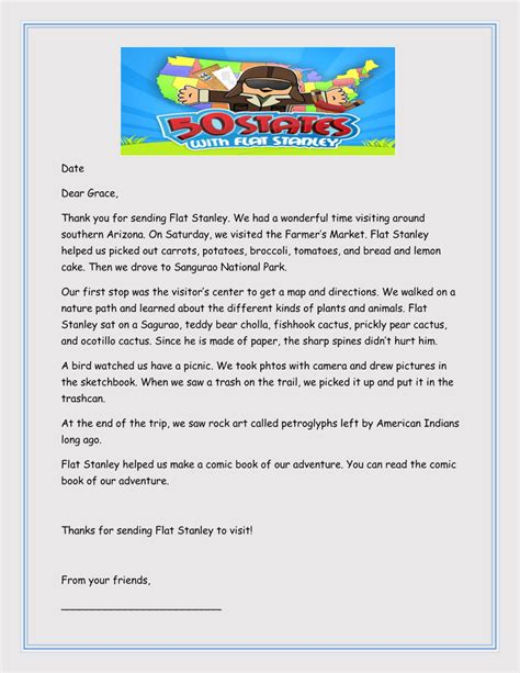 printable flat stanley templates letters word