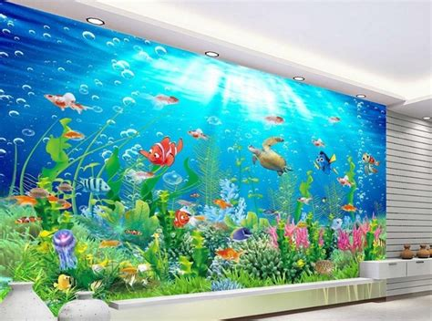 Wall Murals For Schools aliexpress com buy 3d room wallpaper landscape beach