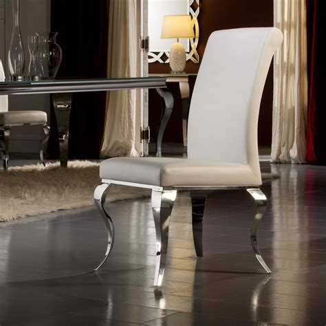 modern baroque white dining chair
