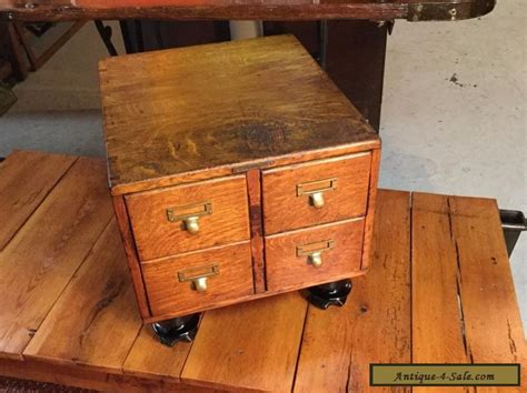 antique library card file cabinet antique 4 drawer tiger oak table top library card file