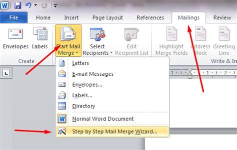 membuat mail merge microsoft word cara membuat mail merge atau surat masal di microsoft word