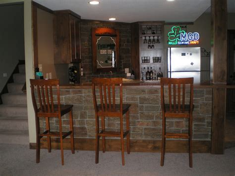 Home Basement Bar Diy Basement Bar Pub Style Creative Faux Panels
