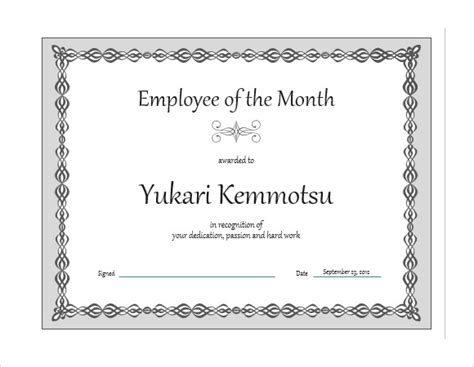 employee of the month word doc pictures to pin on