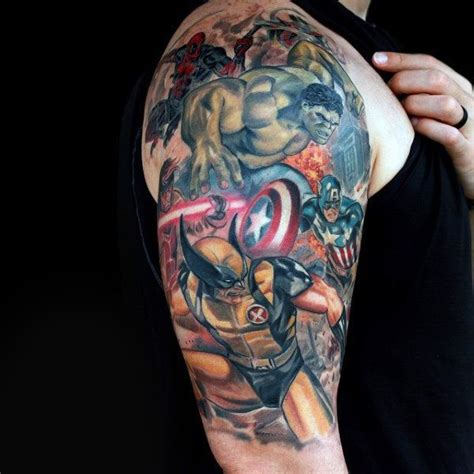 marvel tattoo sleeve best 25 marvel sleeve ideas on marvel
