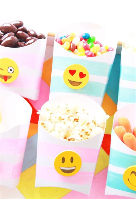 birthday themed emojis diy emoji snack boxes so much fun for a party project