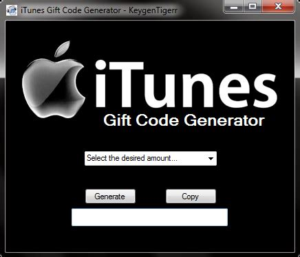 Free Itunes Gift Card Code Generator Download - itunes code generator share your ideas with readers rajgovt