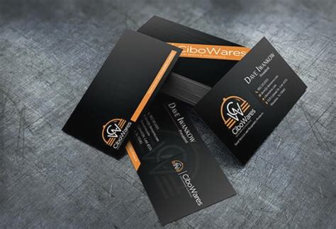 orange and black business card psd design techfameplus black and orange business card design for 5 business