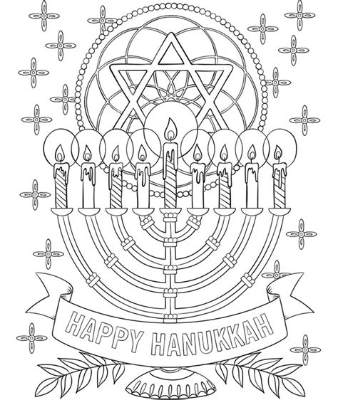 hanukkah coloring pages printable happy hanukkah menorah coloring page crayola