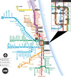 Chicago Blue Line Map by Blue Line Chicago Map Stop
