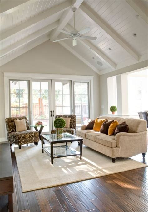 vaulted ceiling ideas updated farmhouse ceiling with beams paneling fresh