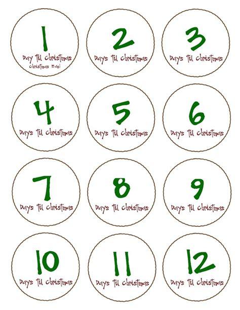 printable christmas countdown tags 1000 ideas about days till christmas on pinterest
