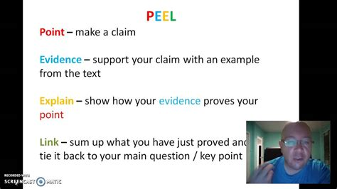 how to write a peel paragraph