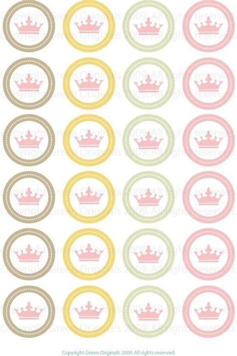 printable stickers round printable round stickers pink crown