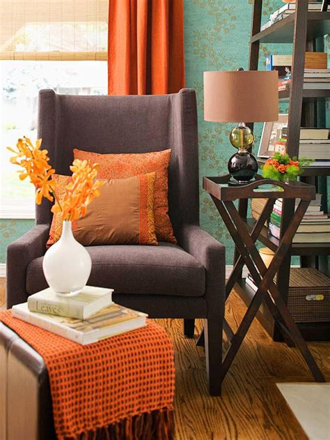 orange and blue home decor fall decorating fresh color combinations the inspired room