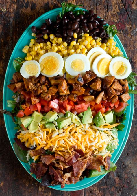 Fast Easy Dinner Black Bean Cobb Salad by Recipe Bbq Chicken Cobb Salad Kitchn