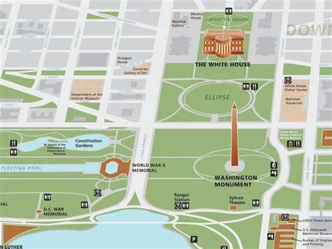washington dc map landmarks map of washington dc monuments clubmotorseattle