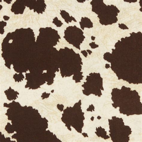 Cowhide Fabric By The Yard by Brown Cow Animal Print Microfiber Stain Resistant