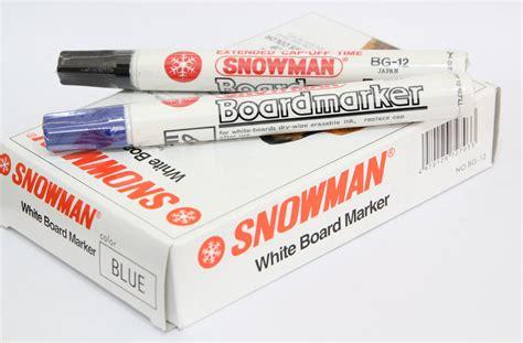 jual spidol snowman white board marker bg 12 jevi