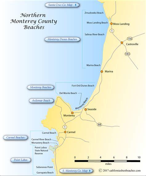 california map monterey county northern monterey county beaches