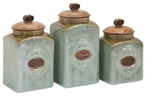 decorative kitchen canisters sets classic style multi set of 3 ceramic canisters