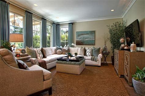 Living Rooms by Living Room Retreat With A Coastal Feel In This Living Room The Cozy Furniture And Soothing Blue