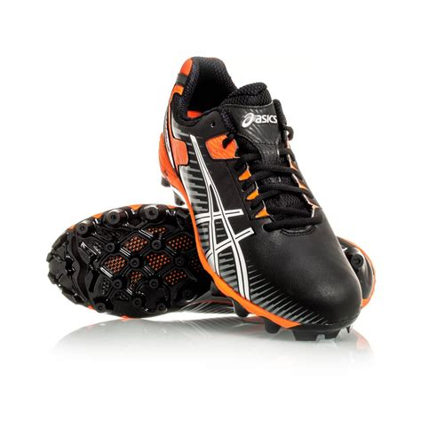 Asics Football Gear asics gel lethal 15 mens football boots black silver ochre sportitude
