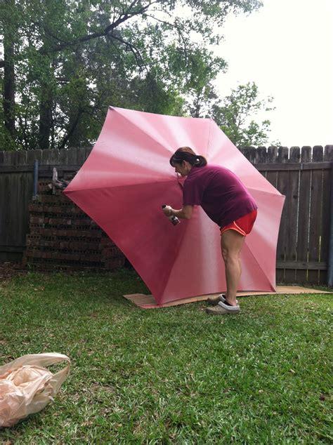 spray paint outdoor umbrella love   doors