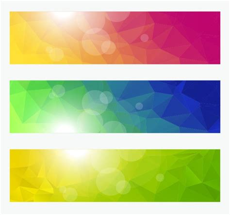 banner background vector banners with colorful polygonal background free
