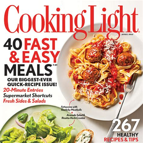 cooking light subscription status cooking light april 2012 recipe index cooking light