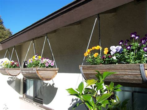 hanging planter box 8 rustic weathered cedar hanging planter box by