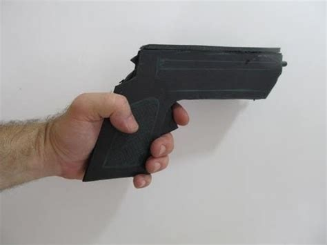 How To Make A Pistol Out Of Paper - how to make a rubber band gun out of foamboard
