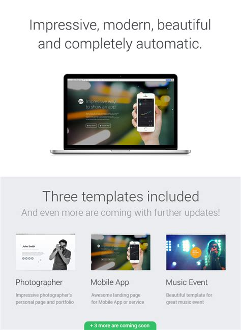 bootstrap splash page template zbz splash interactive one page template
