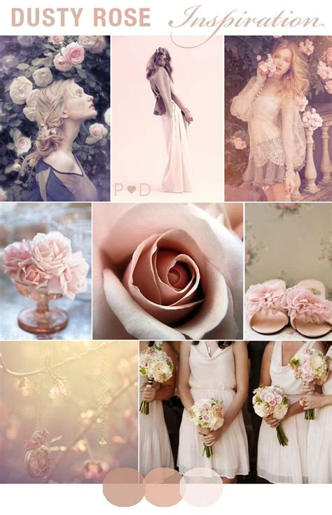 dusty dusky pink pale pink wedding inspiration bridal inspiration mood boards