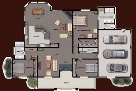 Colored Floor Plans by Color Floor Plans Find House Plans