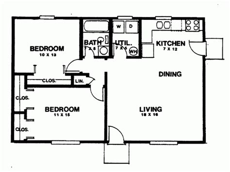 Two Bedroom Cottage Plans Bedroom House Plans