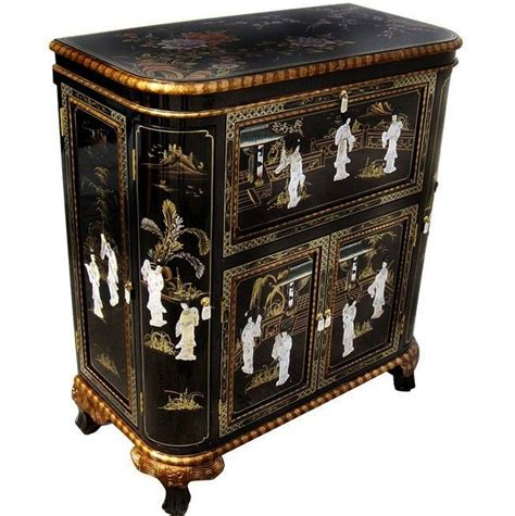oriental furniture black lacquer cabinet oriental furniture bar cabinet black lacquer mother of