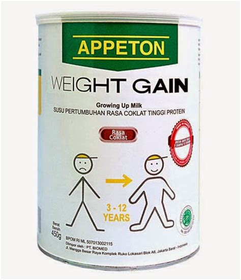 Appeton Weight Gain Di harga appeton weight gain terbaru 2017