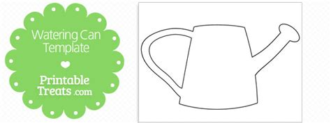 Watering Can Template Cards by Printable Watering Can Template Printable Treats