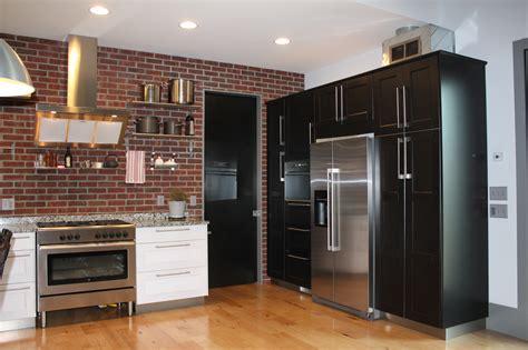 brick wall kitchen design