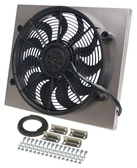5000 cfm electric radiator fan derale 17 quot high output electric radiator fan w aluminum