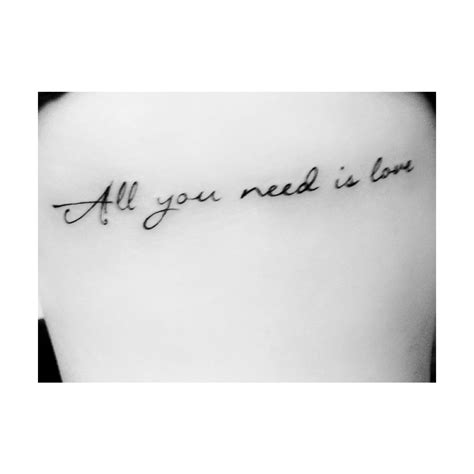 tattoo love is all you need all you need is love tattoo tattoos pinterest