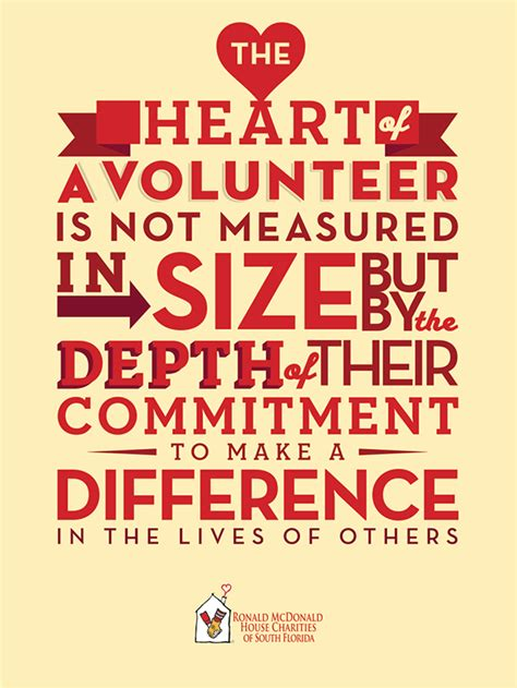 ronald mcdonald house volunteer poster quote volunteer volunteer quotes poster volunteer opportunities quotes