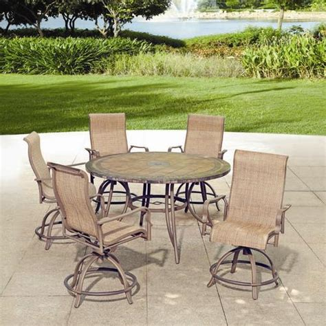 Backyard Creations 6 Piece Avondale Balcony Dining Menards Outdoor Patio Furniture