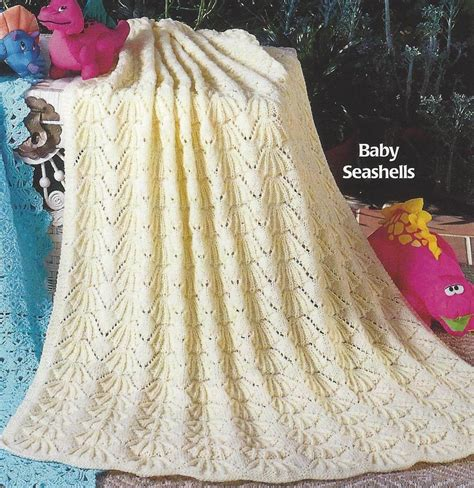 baby knitted shawl baby blanket shawl knitting pattern quot seashells quot dk or 4ply