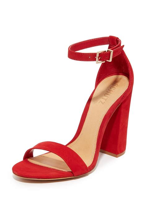 2017 Color Trends Home by Schutz Red Block Heels From New Jersey By Shop Pray Love