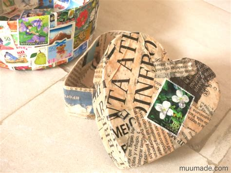 Paper Mache Boxes How To Make - shaped paper mache box with lid muumade