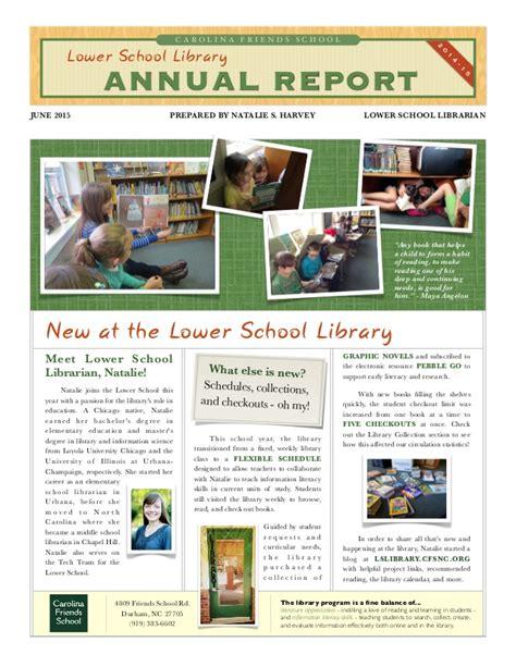 sle of school annual report carolina friends school lower school library annual report