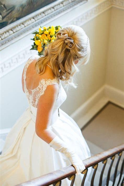 Wedding Hairstyle Ideas For Medium Hair by Half Up Half Wedding Hairstyles 50 Stylish Ideas