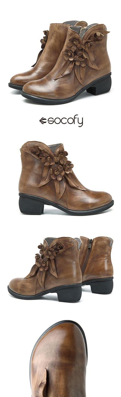 Designer Socofy Sooo Comfy Vintage - best 25 boots ideas on shoes high