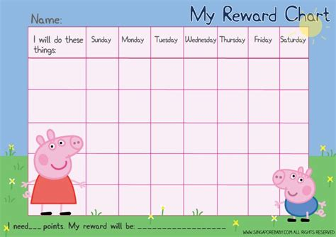 printable reward charts free picture of the peppa pig reward chart download the free